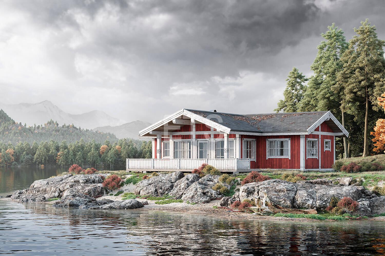 Проект скандинавского одноэтажного дома от ETS