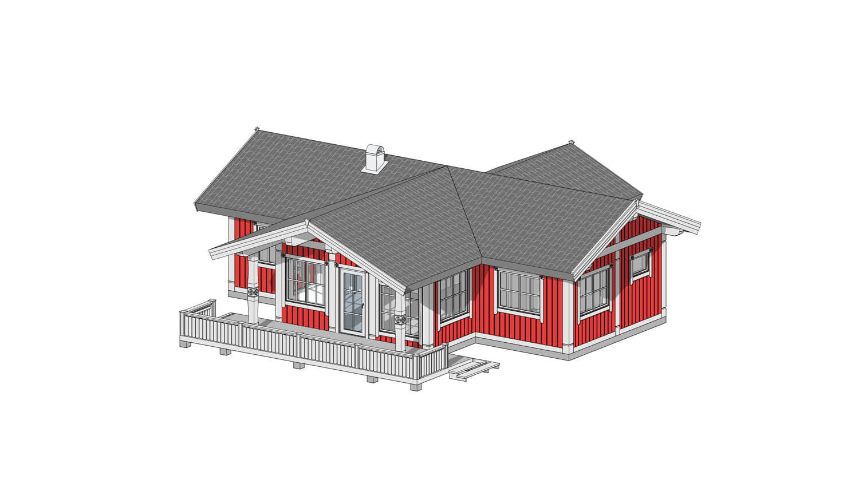 Проект каркасного дома в скандинавском стиле