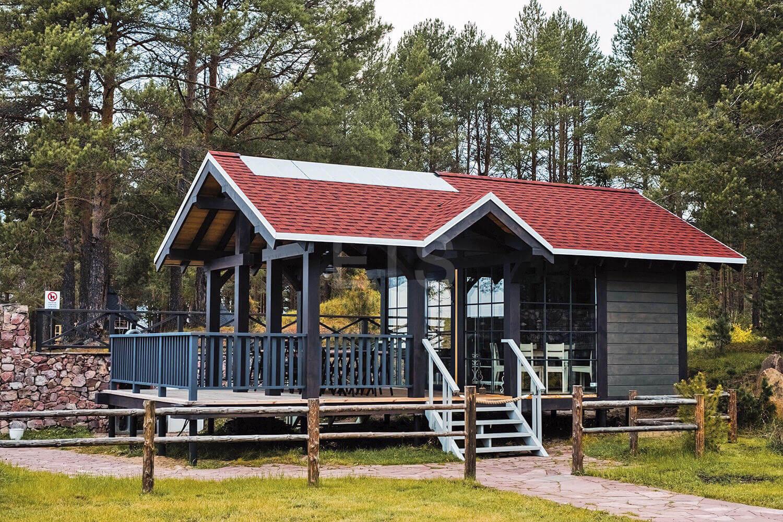 Проект каркасного дома для базы отдыха от ETS