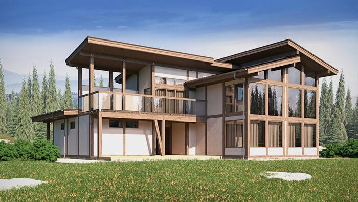 Проект дома в стиле фахверк на Сахалине