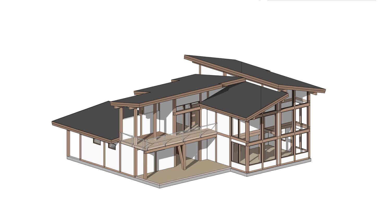 Проект фахверкового дома на Сахалине от ETS