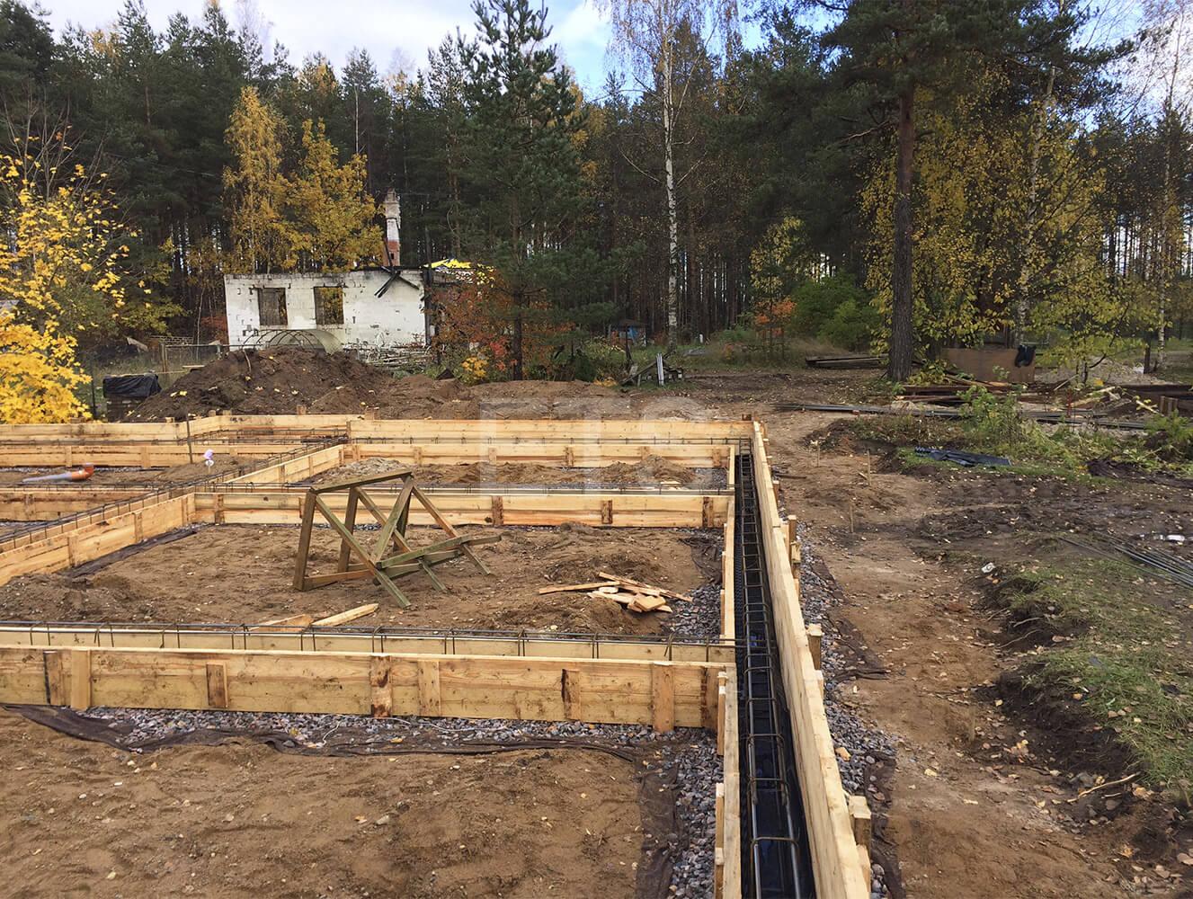 Строительство дома из клееного бруса в финском стиле, спроектированного и построенного ETS