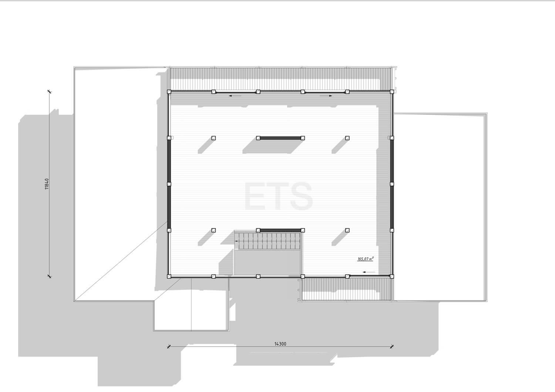Планировка проекта в стиле фахверк - фахверковый Фитнес клуб, выполненного ETS