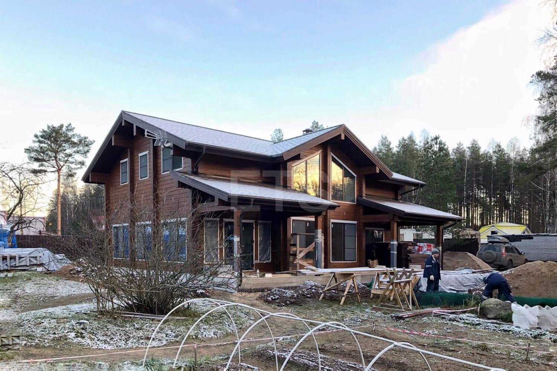 Проект дома из клееного бруса, спроектированный и построенный ETS